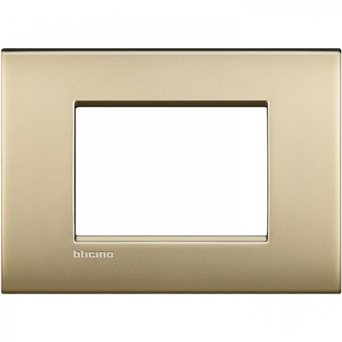 LNC4803OF air  bticino placca 3 posti colore oro satinato