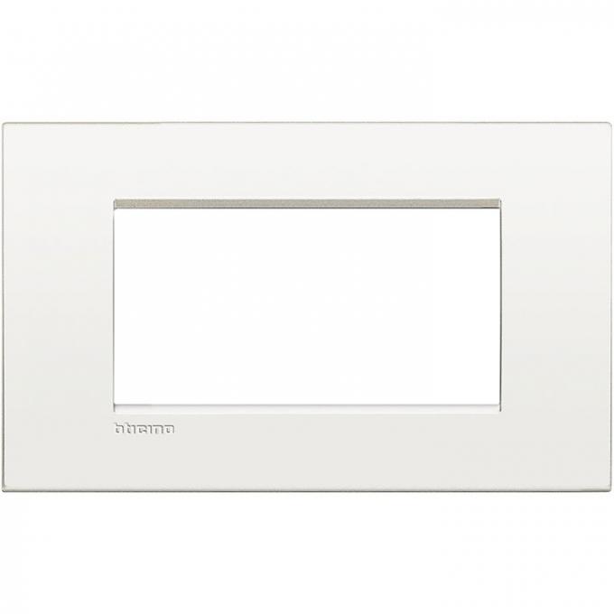 LNC4804BN air  bticino placca 4 posti colore colore bianco  puro