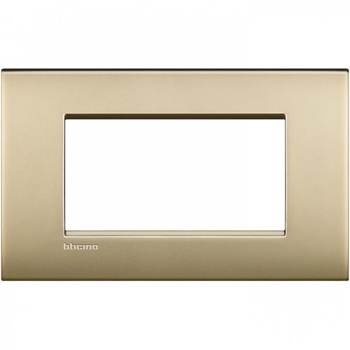 LNC4804OF air  bticino placca 4 posti colore oro satinato
