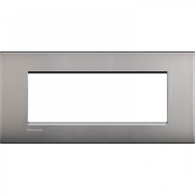 LNC4807NK air  bticino placca 7 posti nichel satinato colore grigio