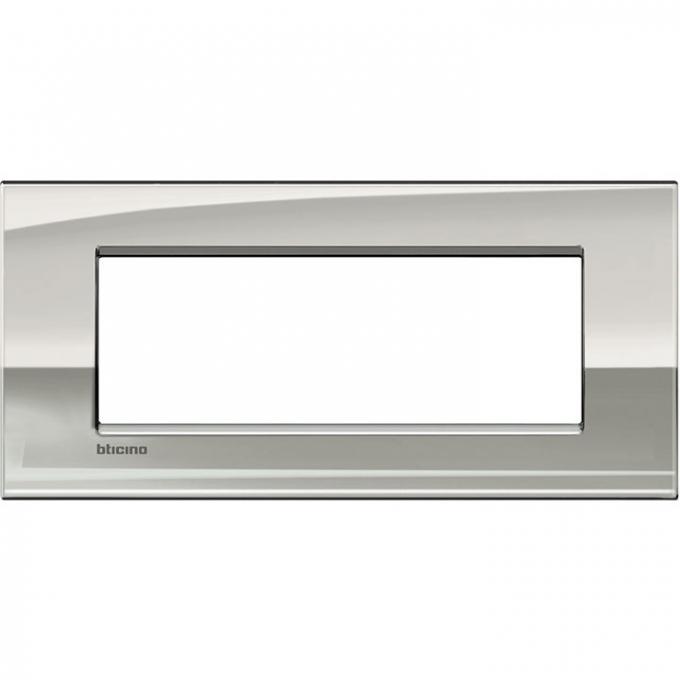 LNC4807PL air  bticino placca 7 posti palladio colore grigio