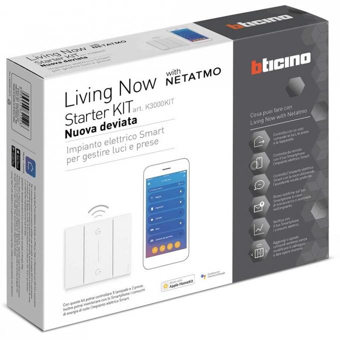 K3000KIT Kit starter domotica living now bticino
