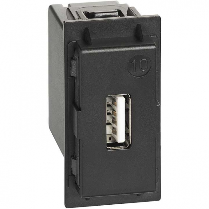 K4285C1 Caricatore USB tipo A living now nero bticino