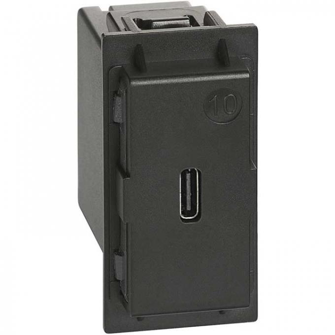 K4286C1 Caricatore USB tipo C living now nero bticino