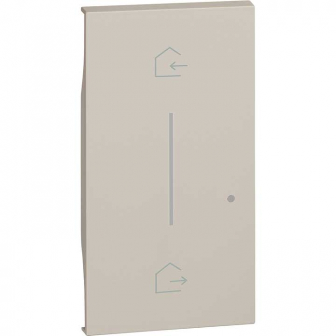 KM40M2 Cover simbolo entra & esci wireless living now sabbia bticino