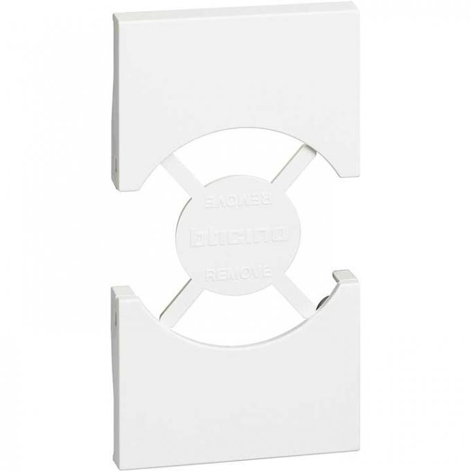 KW03 Cover living now per presa schuko bianco bticino