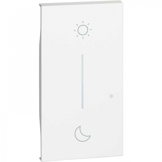 KW41M2 cover simbolo notte&giorno wireless living now bianco bticino