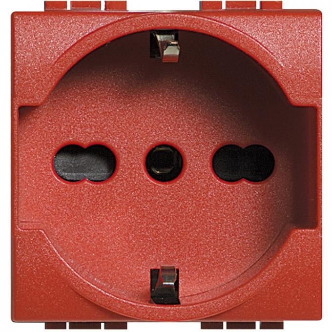 L4140-16R living international bticino presa schuko rossa