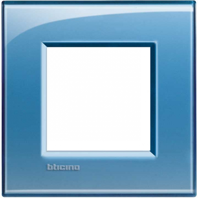 LNA4802AD living international bticino placche  blu 2 posti