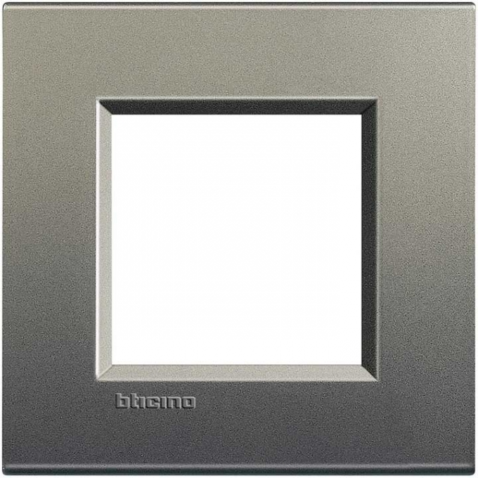 LNA4802AE living international bticino placche grigio 2  posti