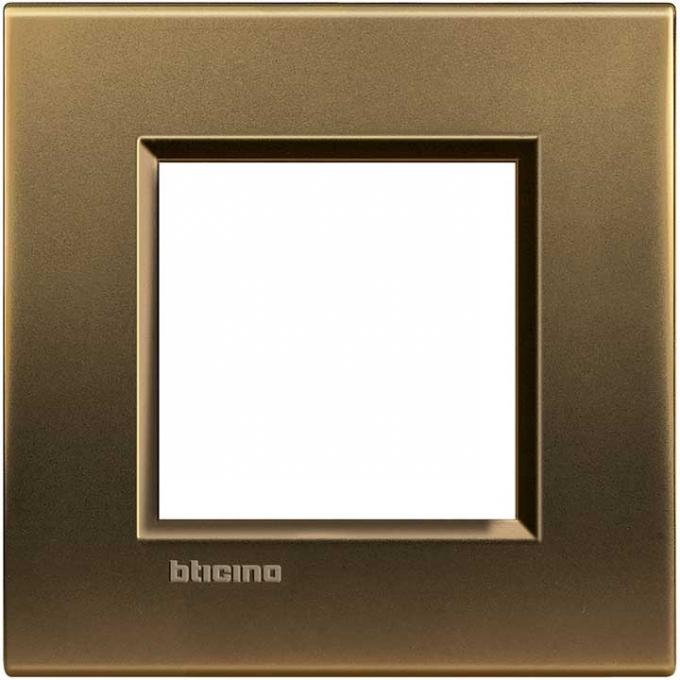 LNA4802BZ living international bticino placche bronzo 2 posti