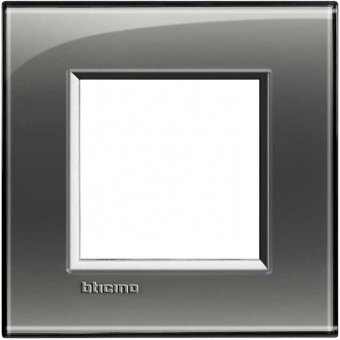 LNA4802KF living international bticino placche grigio 2 posti