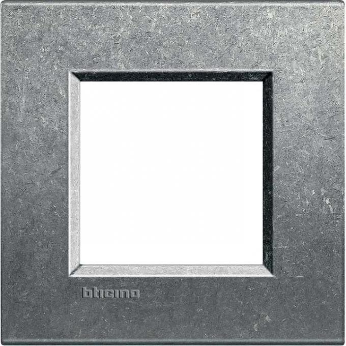 LNA4802NA living international bticino placche grigio 2 posti