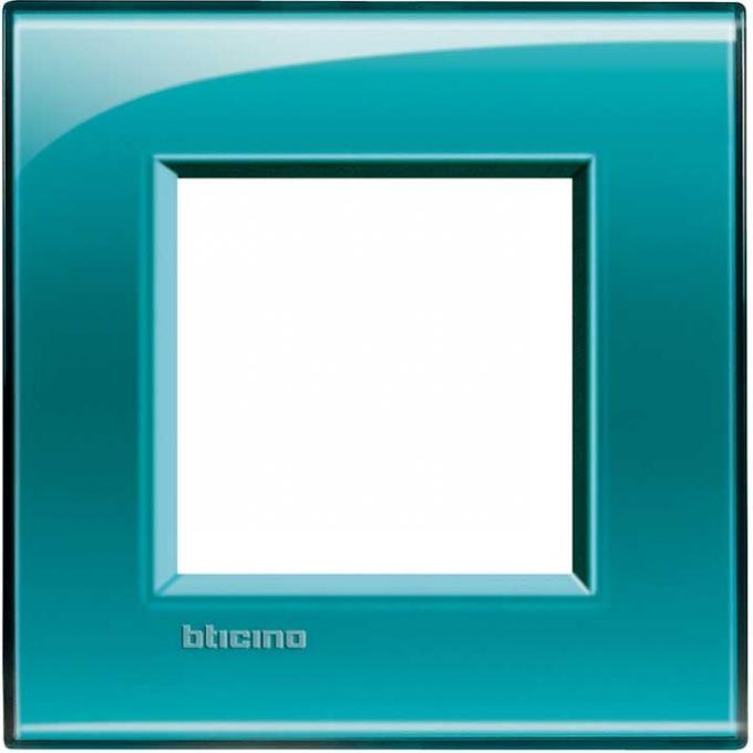 LNA4802VD living international bticino placche  verde 2  posti