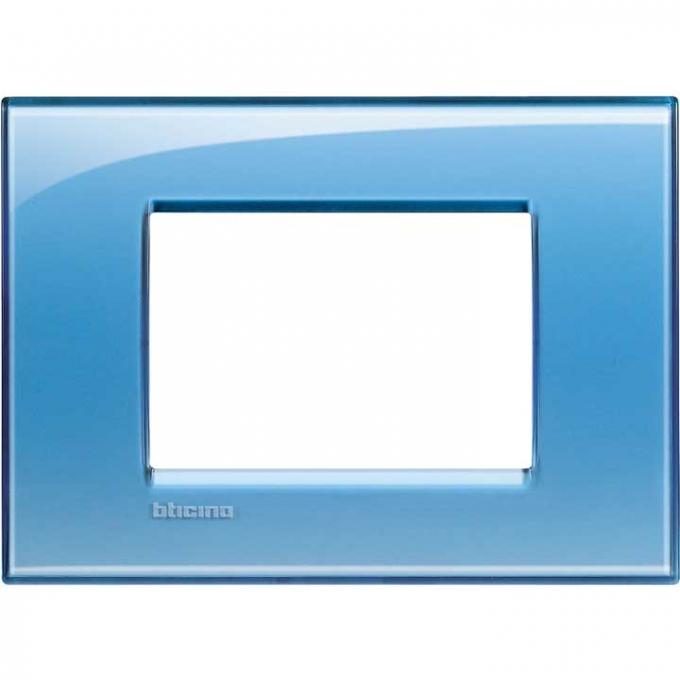 LNA4803AD living international bticino placche  blu 3 posti