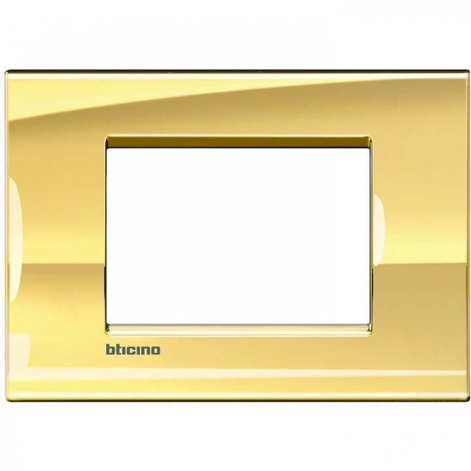 LNA4803OA living international bticino placche oro 3 posti