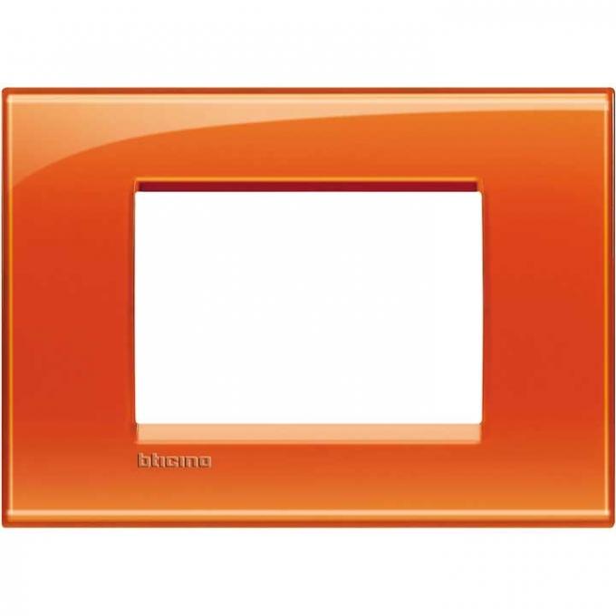 LNA4803OD living international bticino placche  arancione 3  posti