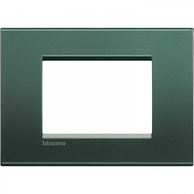 LNA4803PK living international bticino placche  verde 3 posti