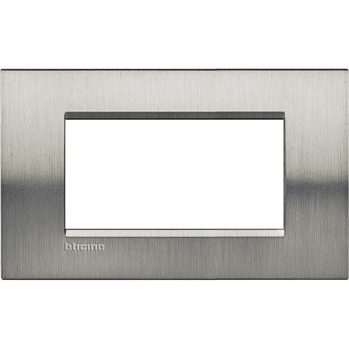 LNA4804ACS living international bticino placche  acciaio inox 4  posti