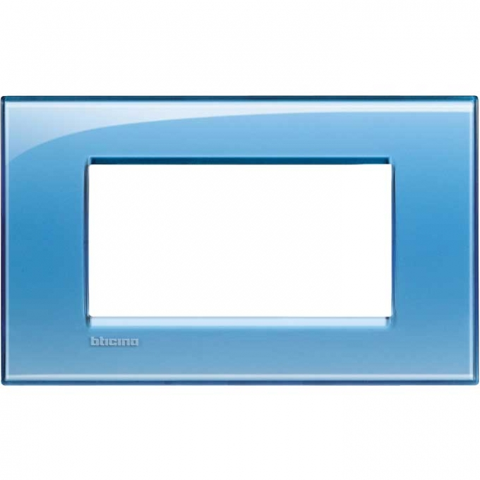 LNA4804AD living international bticino placche  blu 4 posti