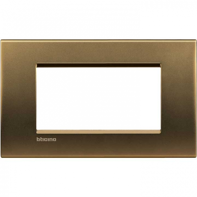 LNA4804BZ living international bticino   placche   bronzo 4  posti