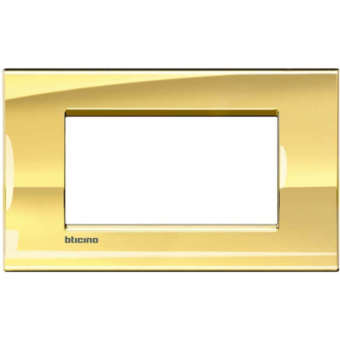 LNA4804OA living international bticino placche oro 4 posti