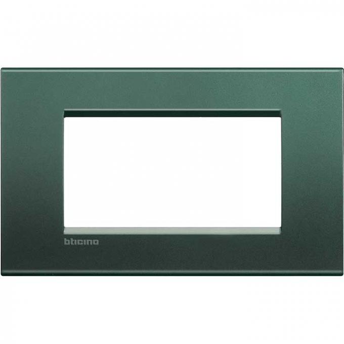 LNA4804PK living international bticino placche  verde 4 posti