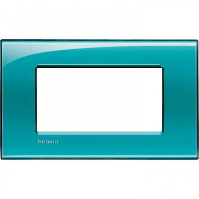 LNA4804VD living international bticino placche verde 4 posti
