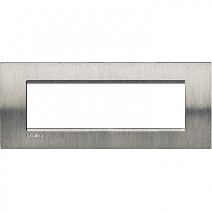 LNA4807ACS living international bticino placche  acciaio inox 7  posti