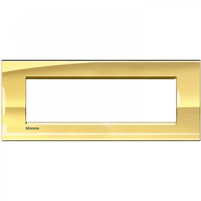 LNA4807OA living international bticino placche oro 7 posti