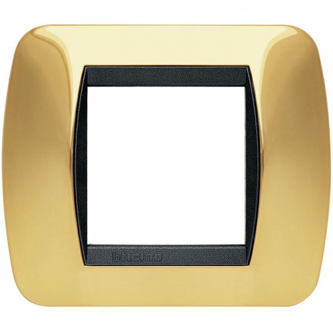 L4802OR living international bticino placche oro 2 posti