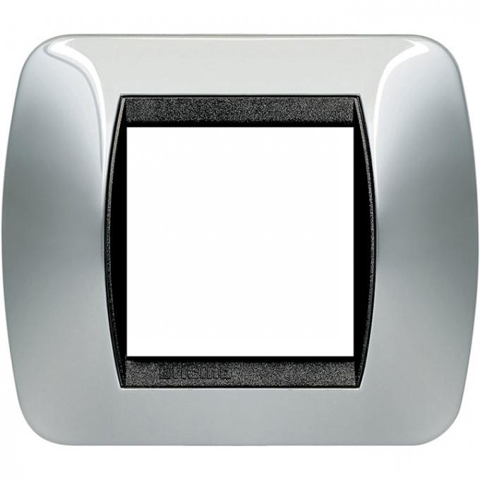 L4802TC living international bticino placche titanio 2 posti