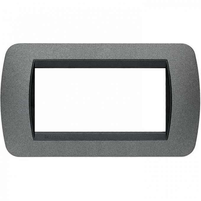 L4804GF living international bticino placche grigio 4 posti