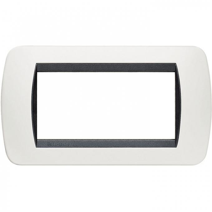 L4804PB living international bticino placche bianco 4 posti