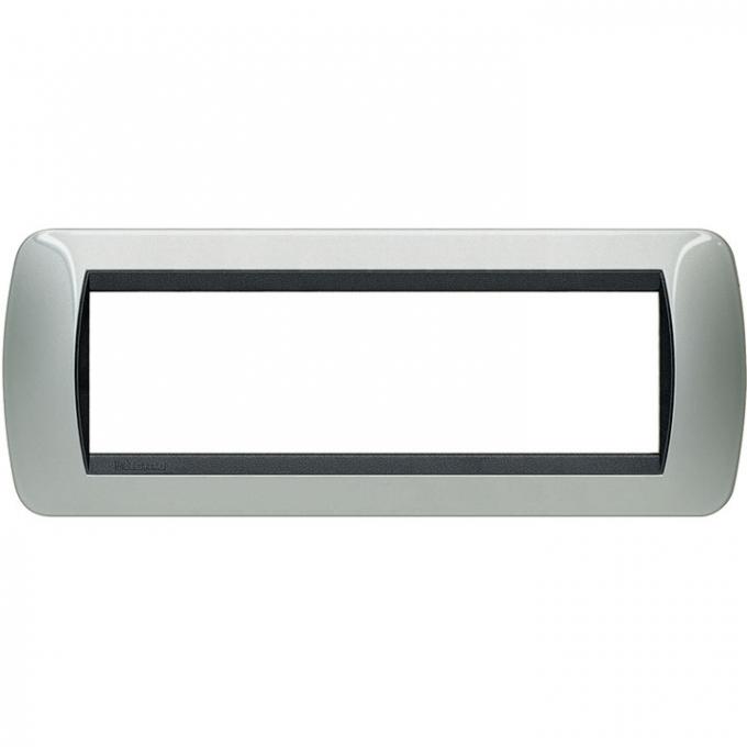 L4807AL living international bticino placche alluminio 7 posti