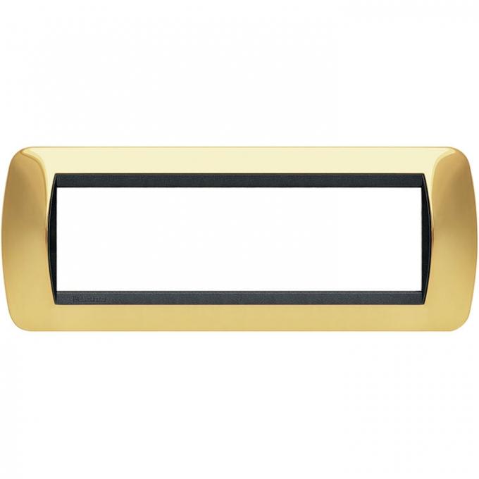 L4807OR living international bticino placche oro 7 posti