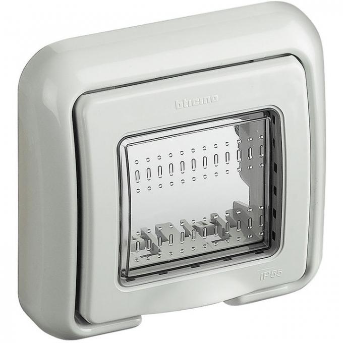 25602 matix bticino coperchio idrobox ip55 2 posti colore grigio