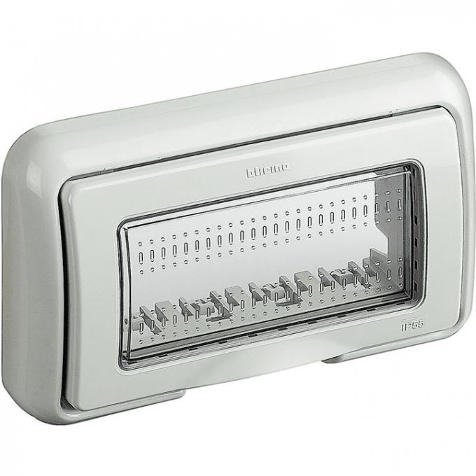 25604 matix bticino coperchio idrobox ip55 4 posti colore grigio
