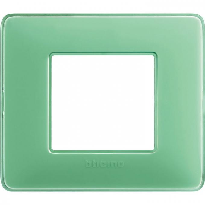 AM4802CVC matix bticino placca 2 moduli colore te verde