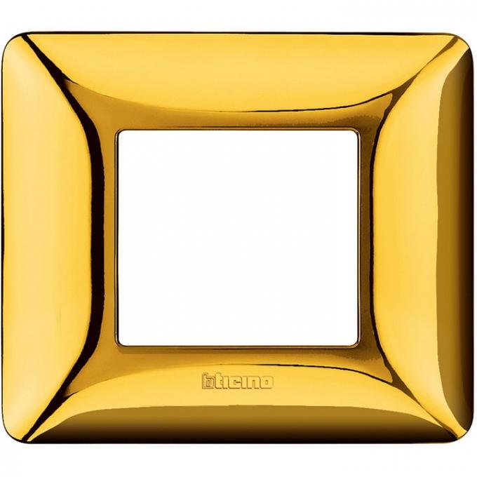 AM4802GOR matix bticino placca 2 poli oro lucido