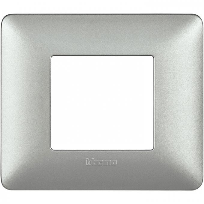 AM4802MSL matix bticino placca 2 poli silver