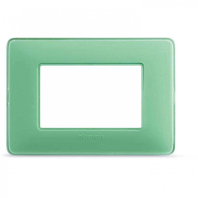 AM4803CVC matix bticino placca 3 moduli colore te verde