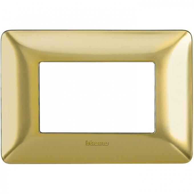 AM4803GOS matix bticino placca 3 poli oro satinato