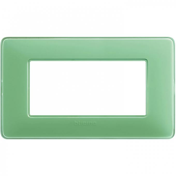 AM4804CVC matix bticino placca 4 moduli colore te verde
