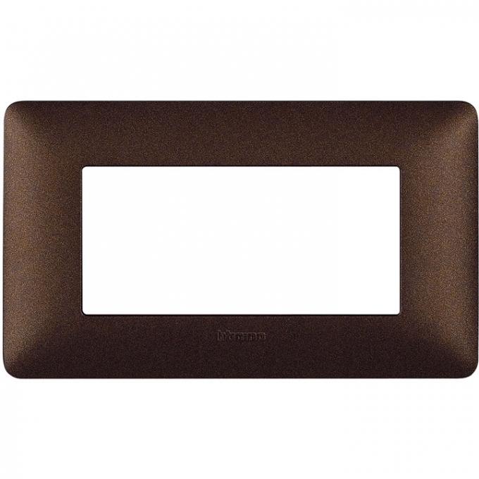 AM4804TGG matix bticino placca 4 poli colore marrone caffè