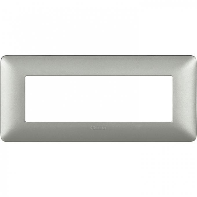 AM4806MSL matix bticino placca 6 poli silver