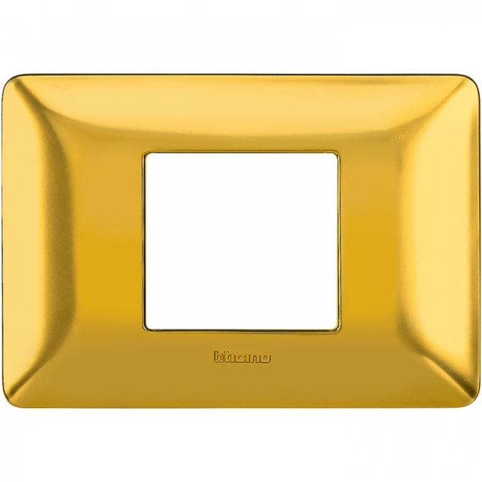 AM4819GOS matix bticino placca 2 poli centrati colore  oro satinato