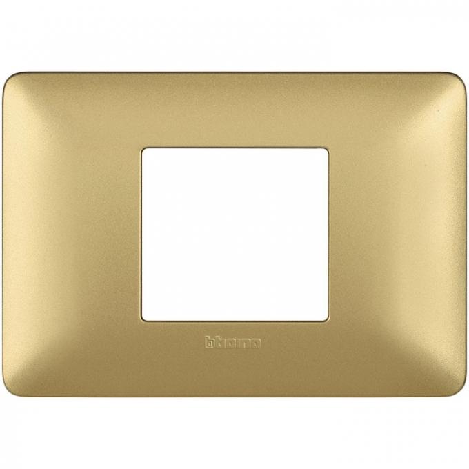 AM4819MGL matix bticino placca 2 poli centrati colore gold