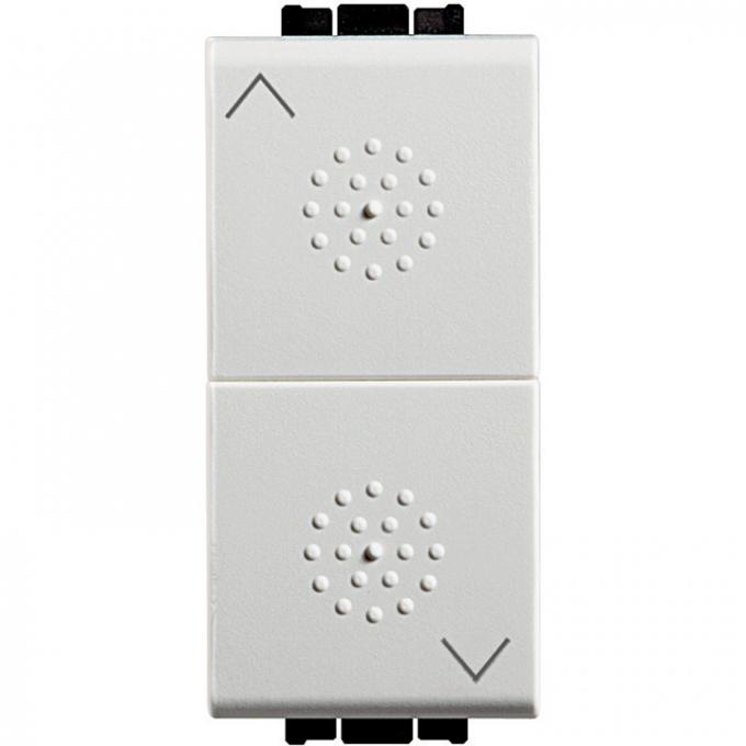 N4037 pulsante interbloccato bticino con 2 interblocchi 10a living light