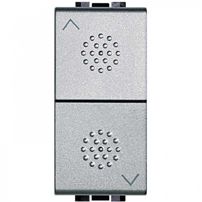 Pulsante bticino interbloccato con contatto no serie light tech nt4037